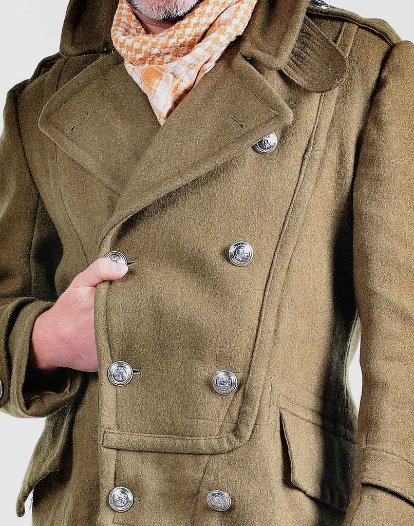 Redesigned Hellenic Army Brown Greatcoat
