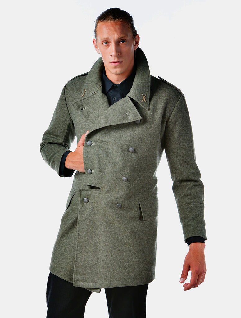 Redesigned WWII Era European Overcoat