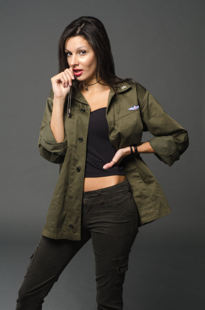 Ladies Military Fatigue Shirt