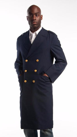 Blue Gabardine Airforce Overcoat