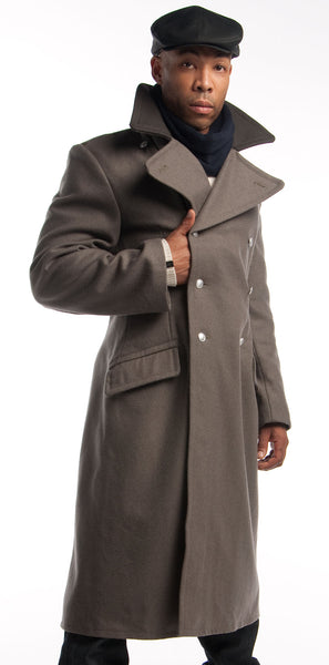 Black Collar Gray Overcoat