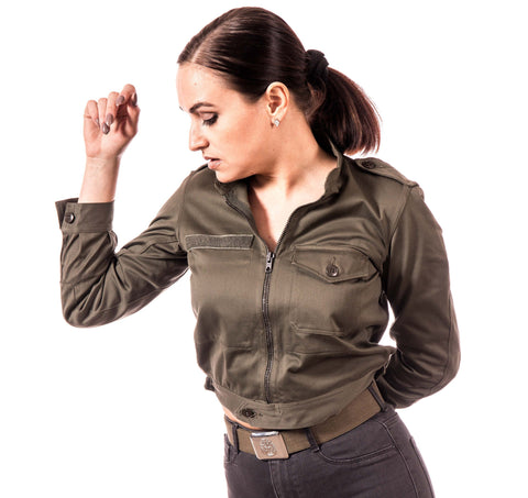 Olive Drab Green Air Force Aviator Bomber Jacket