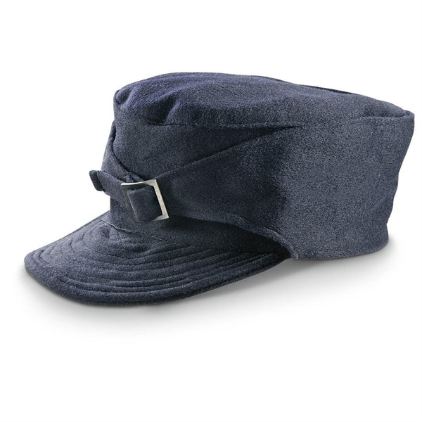 1960's MILITARY STYLE Vintage Italian M43 Navy Blue Wool Winter Hat