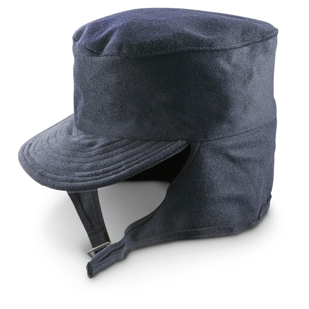 Post WWII M43 Style Navy Blue Wool Winter Hat