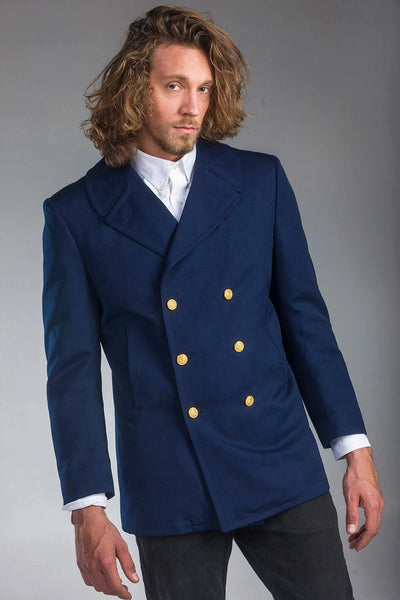 1980's Authentic MILITARY STYLE VINTAGE U.S Coast Guard Peacoat ( Un-Issued)