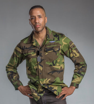 Jungle/Woodland Camo Field Shirt