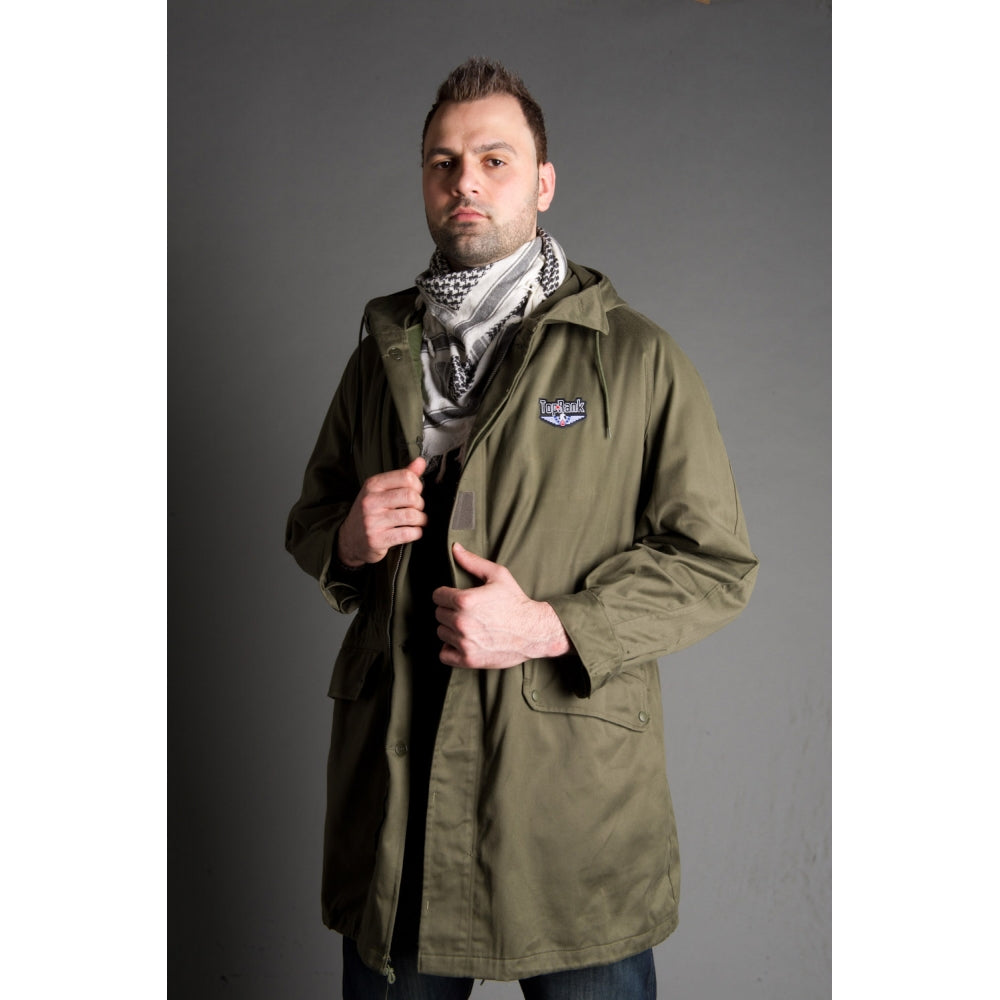 Olive Drab Hooded Parka w/Belt