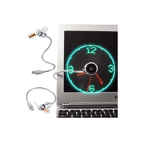 USB Mini Led Fan Clock