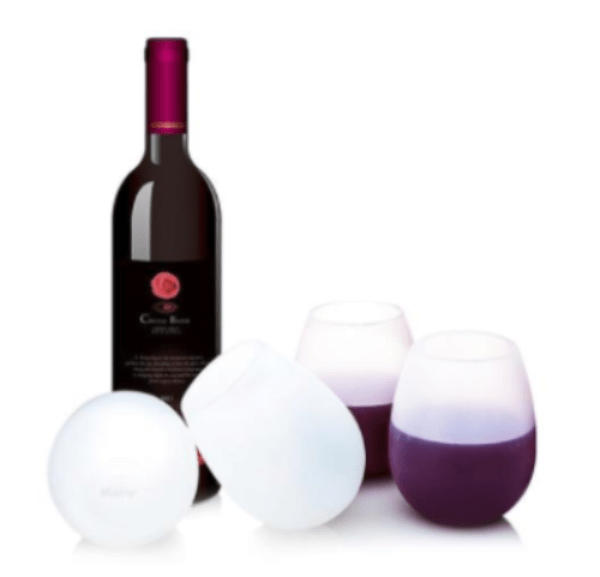 4. Unbreakable Silicon Wine Glasses