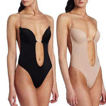 Deep Plunge Thong Body Shaper