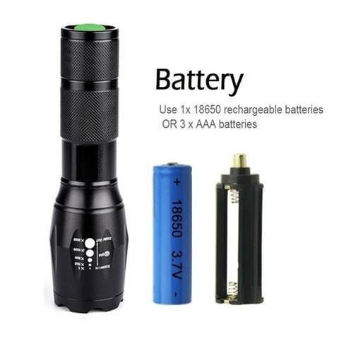Military Grade Tactical CREE Flashlight 2000 Lumen