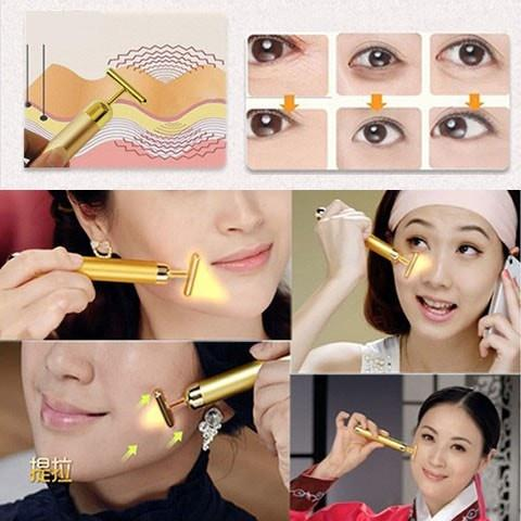 24k Gold Facial Slimming Pulse Roller