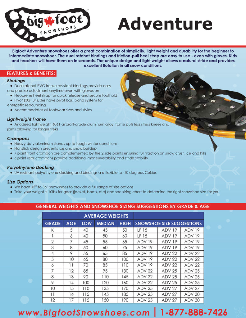 Adventure Series Snowshoes
