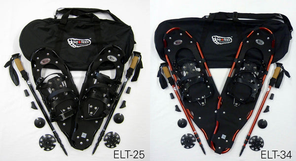 Elite Snowshoes with free matching poles and carry bag
