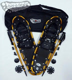 "Adventure 30"" Snowshoes Package - SOLD OUT - (Good for 160-210 lbs) with Gold Poles & Black Carry-Bag"