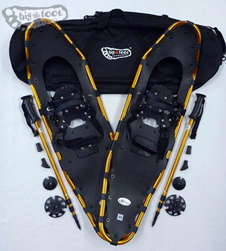 "Adventure 40"" Snowshoes Package -  (Good for 250-350 lbs) with Gold Poles & Carry-Bag"