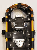 "Adventure 22"" Snowshoes (Good for 80-120 lbs) with Gold Poles & Black Carry-Bag"
