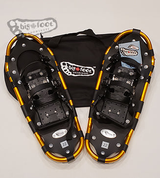 "Adventure 22"" Snowshoes (Good for 80-120 lbs) with Black Carry-Bag"