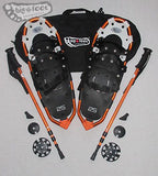 "Huron 25"" Snowshoes (Good for 110-160 lbs) with Orange Poles & Black Carry-Bag"
