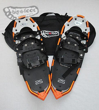 "Huron 25"" Snowshoes (Good for 110-160 lbs) with Black Carry-Bag"