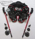 "Adventure 15"" Littlefoot Snowshoes (Good For Kids 20-60 lbs) with Red Poles & Black Carry-Bag"