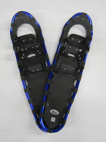 "Adventure 34"" Snowshoes (Good for 190-230 lbs) with Free Carry-Bag"