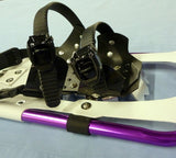 "SPECIAL: Designer 27"" Snowshoes (Good for 140-180 lbs) with Purple Poles & Black Carry-Bag"