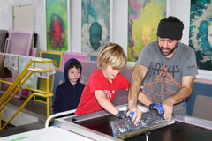 teaching screenprinting