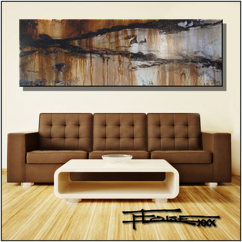Abstract Painting 72 inch, Modern Canvas Wall Art, Ready to hang, ENRAPTURE72 by ELOISExxx