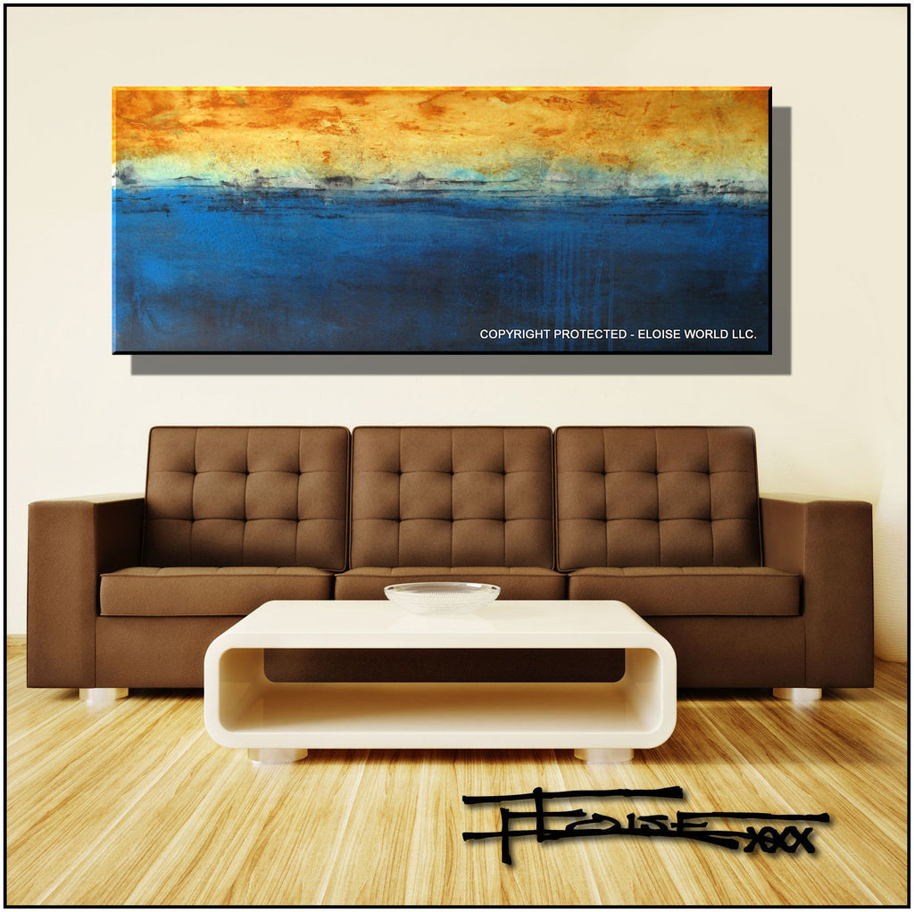 Modern Canvas Painting Limited Edition 60 x 24 INFUSION by ELOISExxx