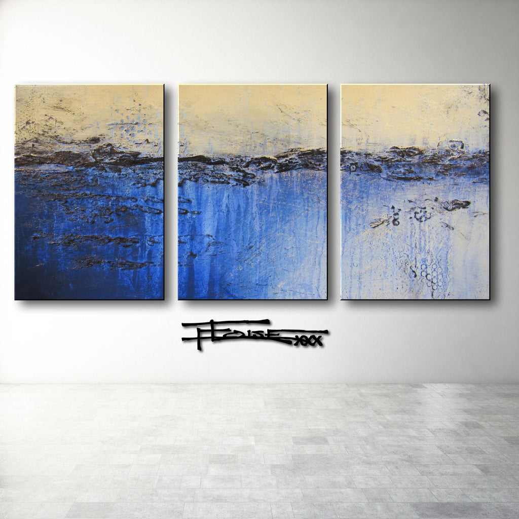 SLATED - Textured Limited Edition - Triptych
