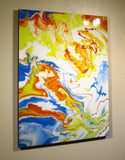 JOY - 48 X 36 X 1.5 inch Resin Coated Limited Edition Painting