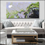 Abstract Painting, Resin Coated, Limited Edition Giclee, 60 x 30 x 1.5 inch