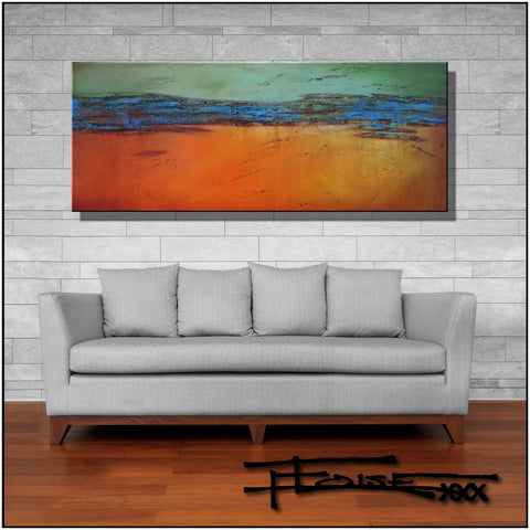 Abstract Modern Limited Edition Giclee Painting 60 x 24 x 1.5 inch by ELOISExxx