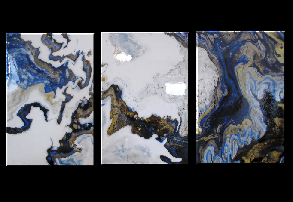 IMPERIAL GOLD - TRIPTYCH - Resin Coated Limited Edition