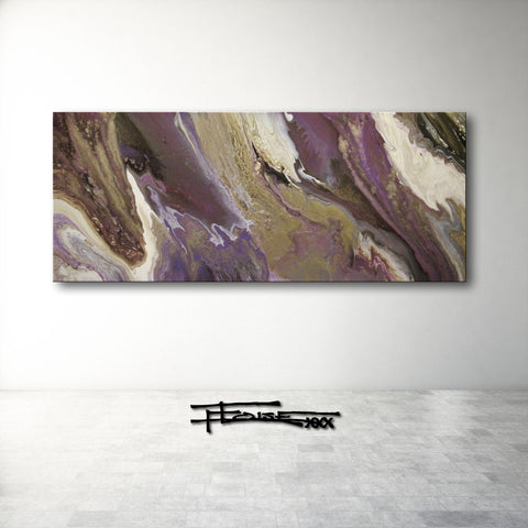 LUXE IN LAVENDER - Original Resin Painting