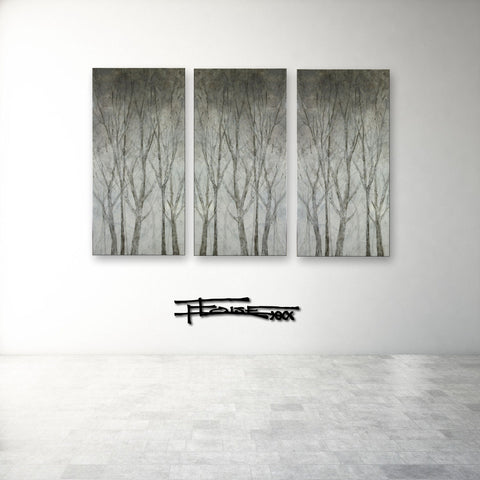 TRANQUILITY IN THE TREES - Triptych - Textural Limited Edition