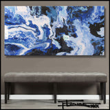 Resin Coated Abstract Painting, Limited Edition 60 x 30 by ELOISExxx