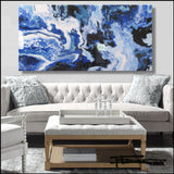 TRIBUTE TO BLUE - Limited Edition Resin - 60 x 30 x 1.5 inch