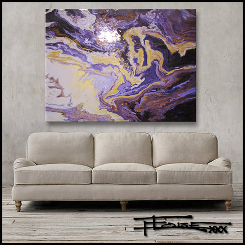 VIOLET FUSION - 48 x 36 x 1.5 inch - Resin coated Limited Edition Giclee