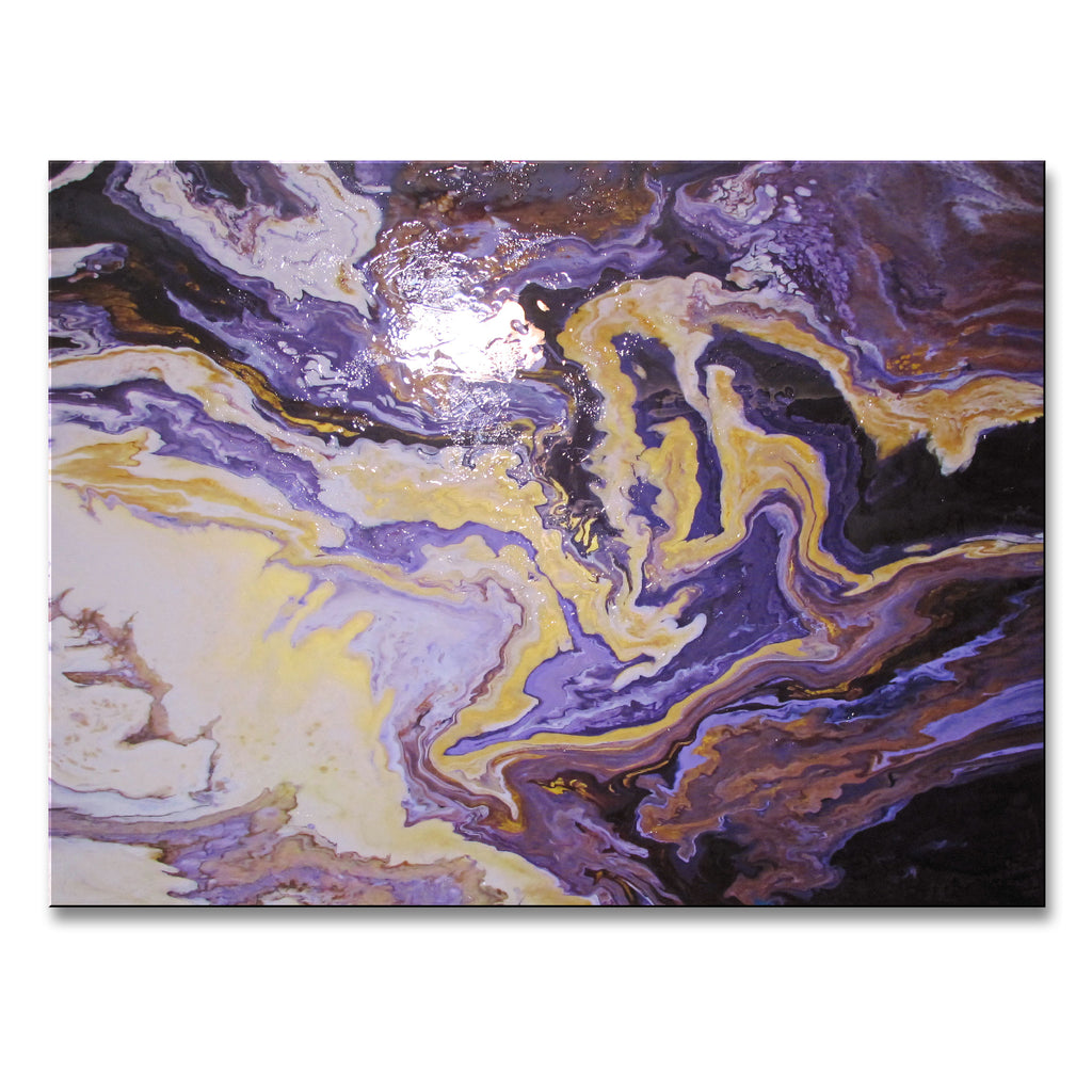 VIOLET FUSION - 48 x 36 x 1.5 inch - Resin coated Limited Edition