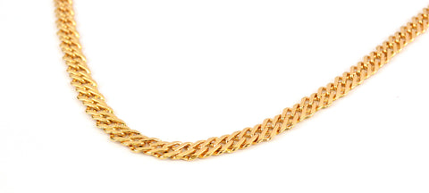 (1-1823-j8) Gold Plated Double Alternative Link Chain, 7mm.