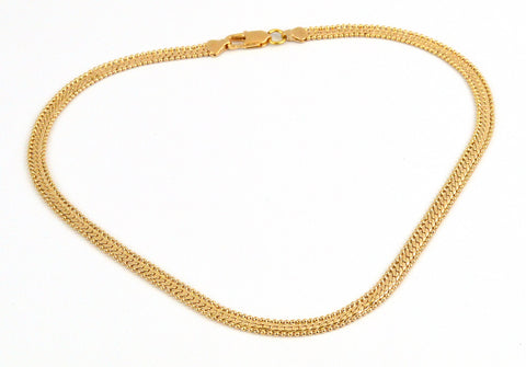 (1-1825-j8) Gold Plated Alternative Curb Link Chain, 7mm.