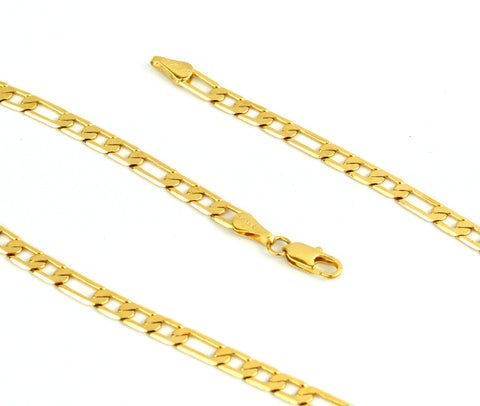 (1-1965-j8) 18kt Brazilian Gold Filled Flat Figaro Chain, 5mm.