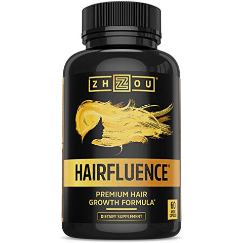 HAIRFLUENCE - Hair Growth Formula For Longer, Stronger, Healthier Hair - Scientifically Formulated with Biotin, Keratin, Bamboo & More! - For All Hair Types - Veggie Capsules: Health & Personal Care