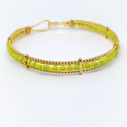 gban-01-h2 Gold Overlay Orula Bangle, 7mm.