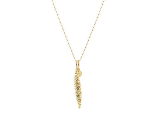 Large Diamond Cut Golden Submarine Necklace
