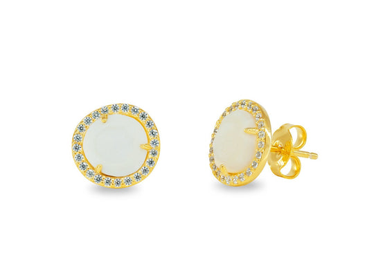 Sparkling Mother of Pearl Studs
