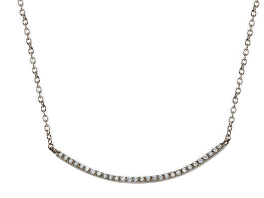 Midnight CZ Smile Necklace