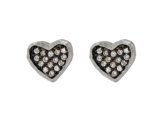 Sparkling Midnight Hammered Hearts